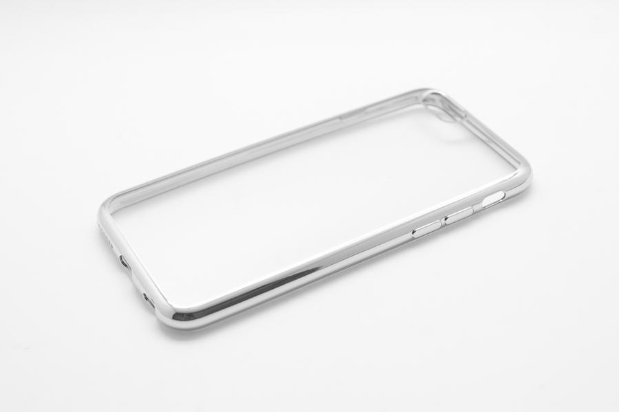 Ультратонкий чехол-бампер Apple iPhone 7 (Silver) AUZER