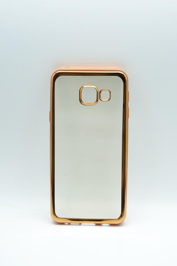 Ультратонкий чехол-бампер Samsung Galaxy A310F (Gold) AUZER
