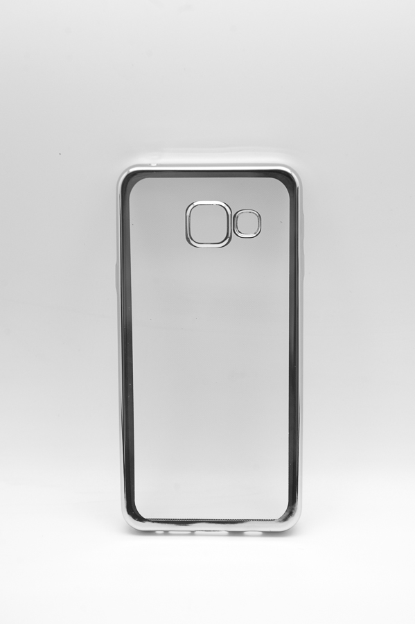 Ультратонкий чехол-бампер Samsung Galaxy A310F (Silver) AUZER