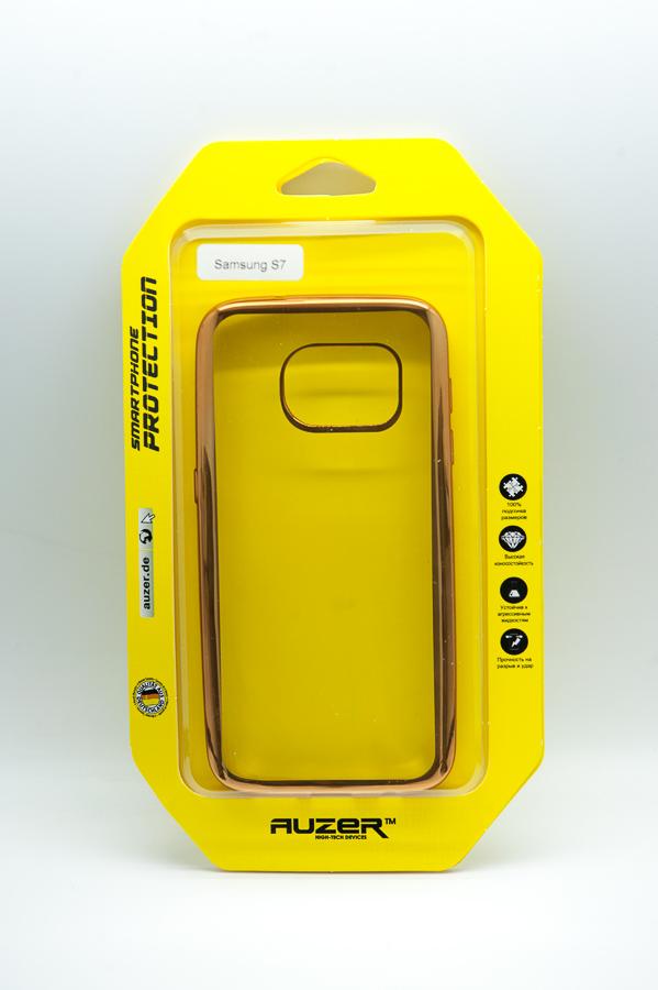 Ультратонкий чехол-бампер Samsung Galaxy  S7 (Gold) AUZER