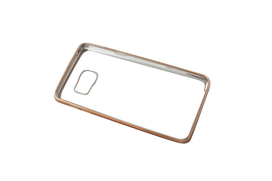 Ультратонкий чехол-бампер Samsung Note 5 (Gold) AUZER