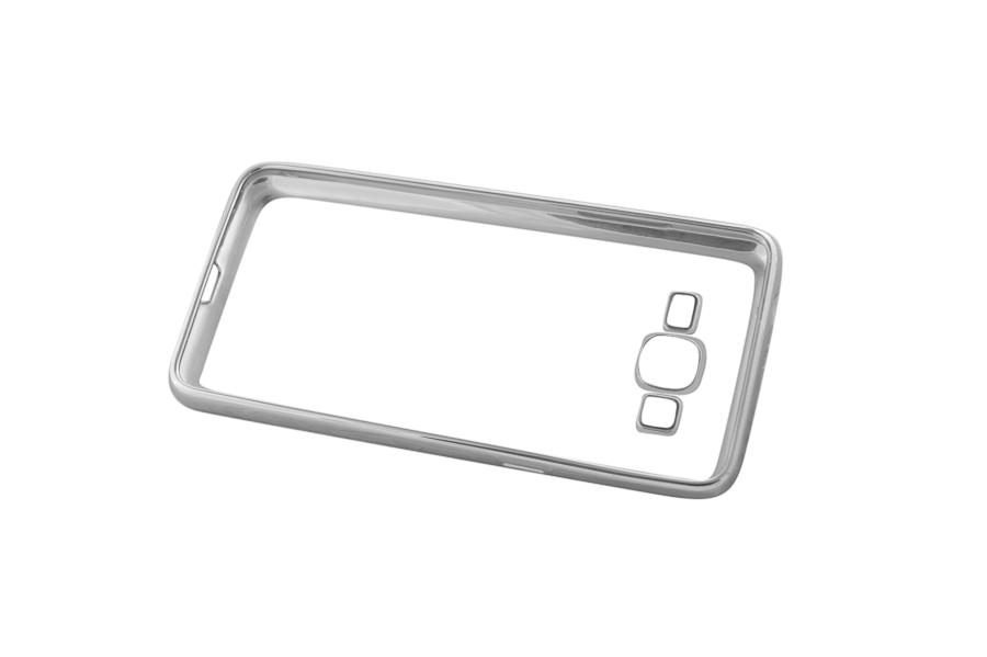 Ультратонкий чехол-бампер Samsung Grand Prime G530/G531 (Silver) AUZER