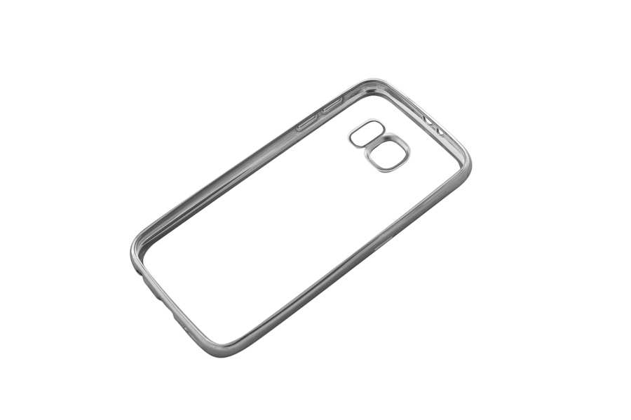 Ультратонкий чехол-бампер Samsung Galaxy  S6 (Silver) AUZER