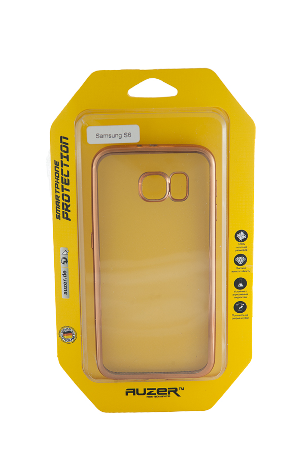 Ультратонкий чехол-бампер Samsung Galaxy  S6 (Gold) AUZER