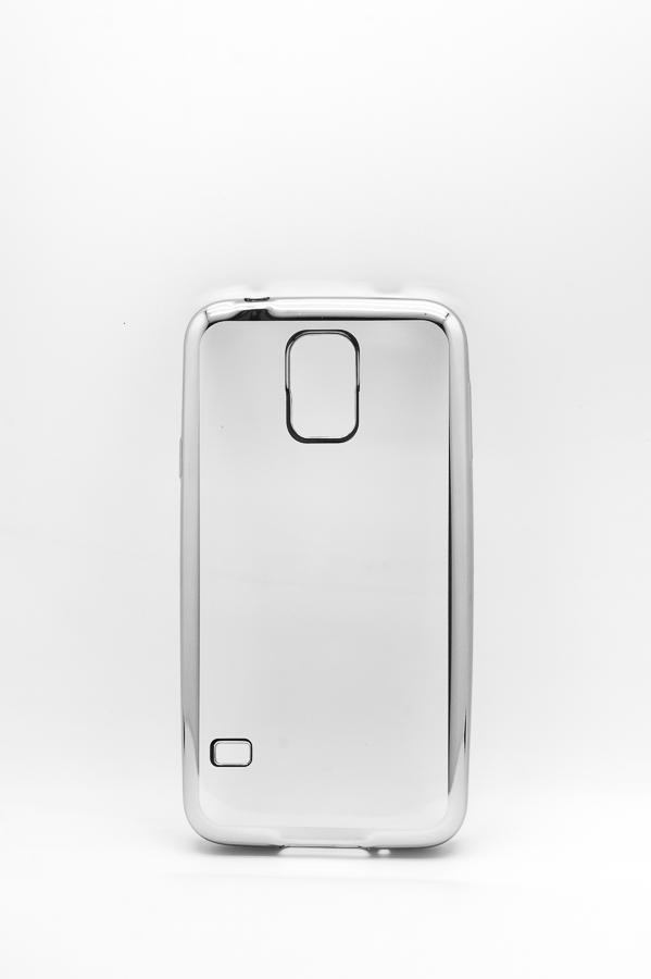 Ультратонкий чехол-бампер Samsung Galaxy  S5 (Silver) AUZER