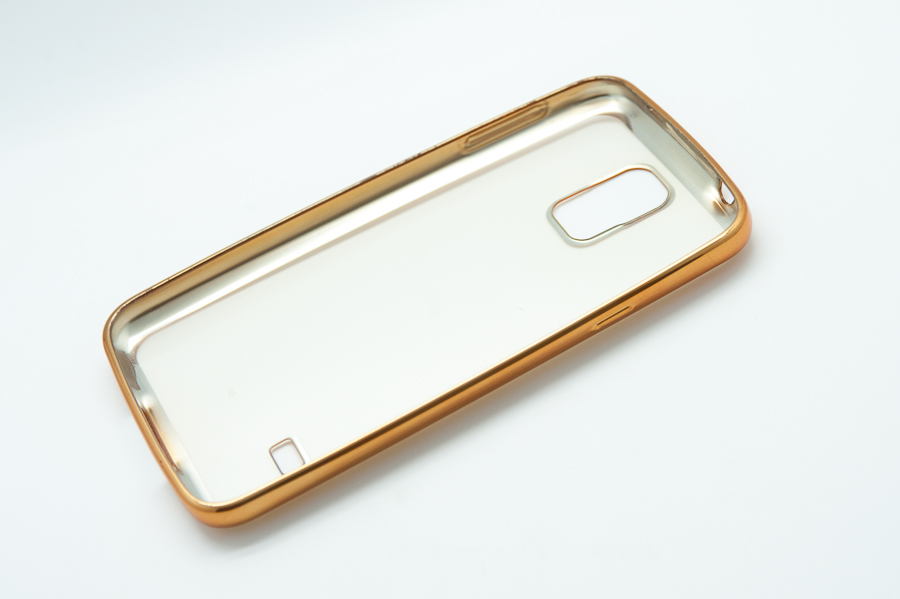 Ультратонкий чехол-бампер Samsung Galaxy  S5 (Gold) AUZER