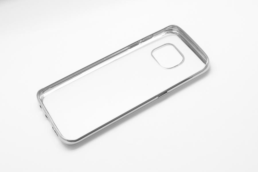 Ультратонкий чехол-бампер Samsung Galaxy  S7 Edge  (Silver) AUZER