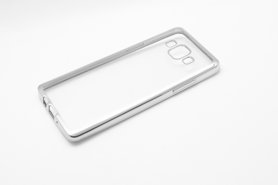 Ультратонкий чехол-бампер Samsung Galaxy A5 (Silver) AUZER