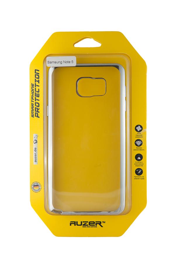 Ультратонкий чехол-бампер Samsung Note 5 (Silver) AUZER