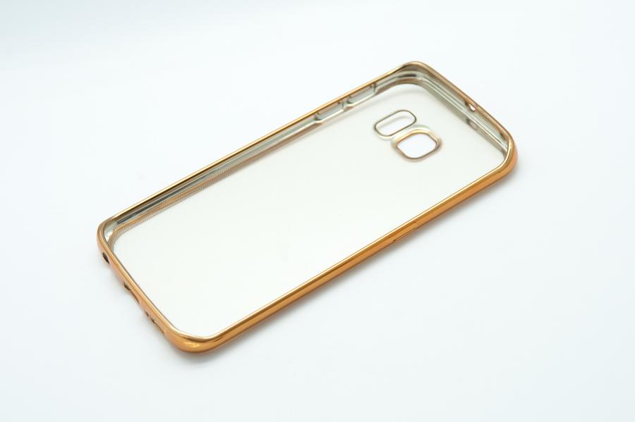 Ультратонкий чехол-бампер Samsung Galaxy  S6 Edge (Gold) AUZER