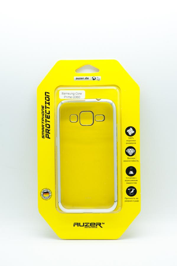 Ультратонкий чехол-бампер Samsung Core Prime G360/G361 (Silver) AUZER