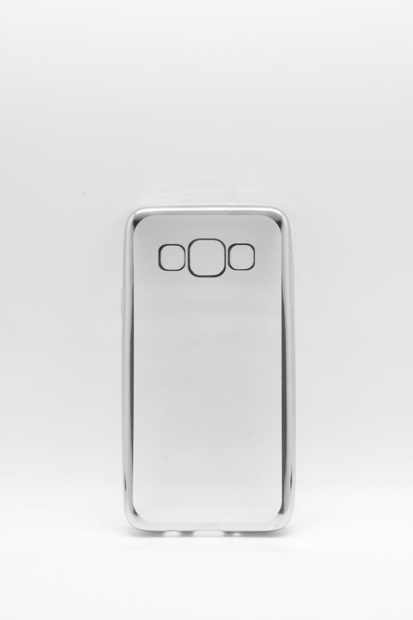 Ультратонкий чехол-бампер Samsung Galaxy A3 (Silver) AUZER