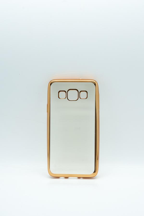 Ультратонкий чехол-бампер Samsung Galaxy A3 (Gold) AUZER