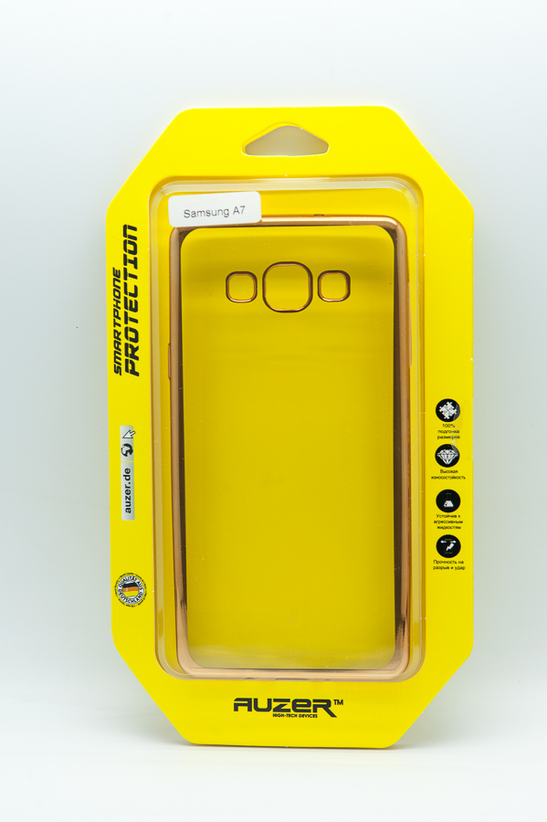 Ультратонкий чехол-бампер Samsung Galaxy A7 (Gold) AUZER