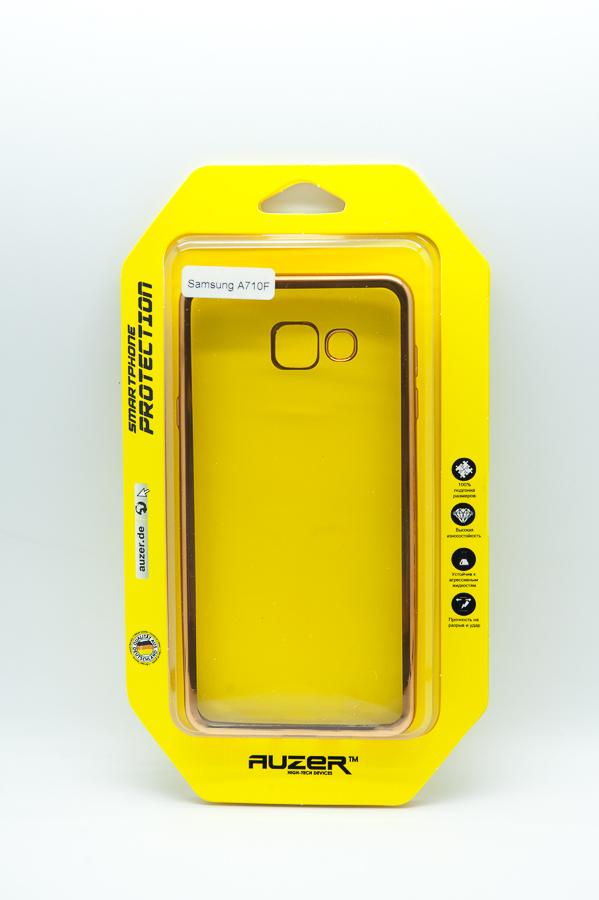 Ультратонкий чехол-бампер Samsung Galaxy A710F (Gold) AUZER