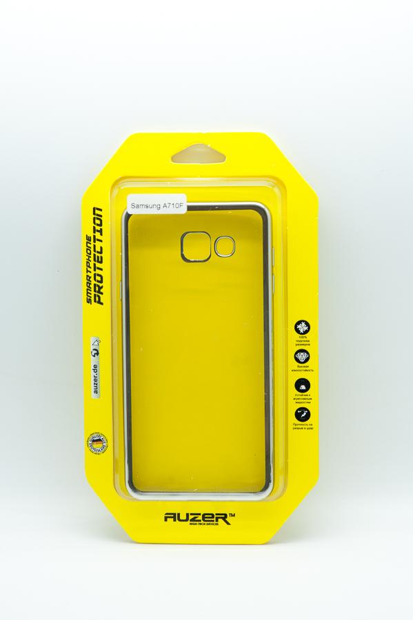 Ультратонкий чехол-бампер Samsung Galaxy A710F (Silver) AUZER