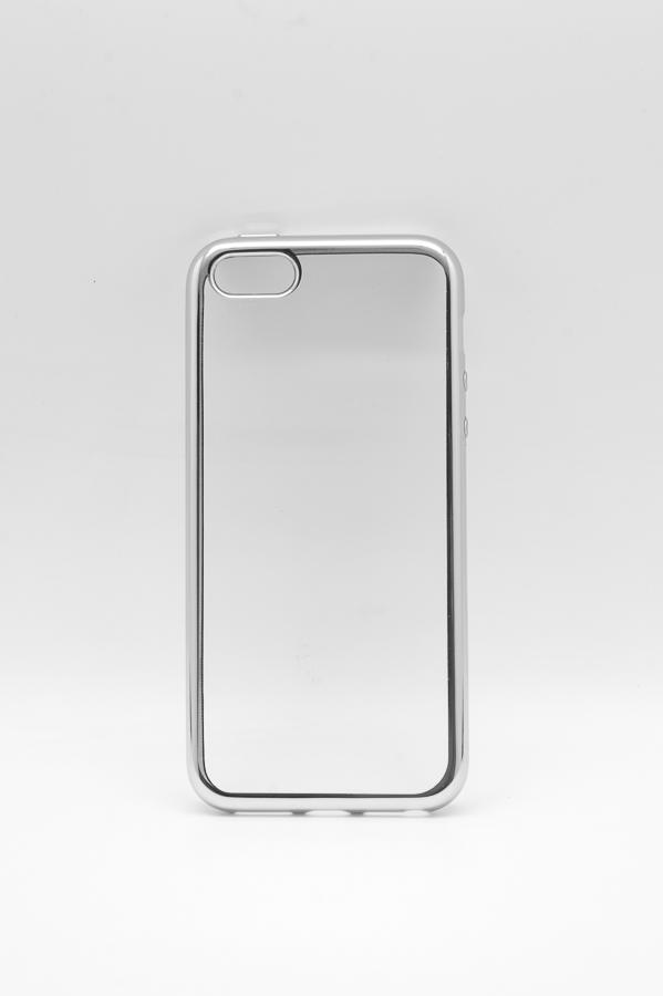 Ультратонкий чехол-бампер Apple iPhone 5/5S (Silver) AUZER