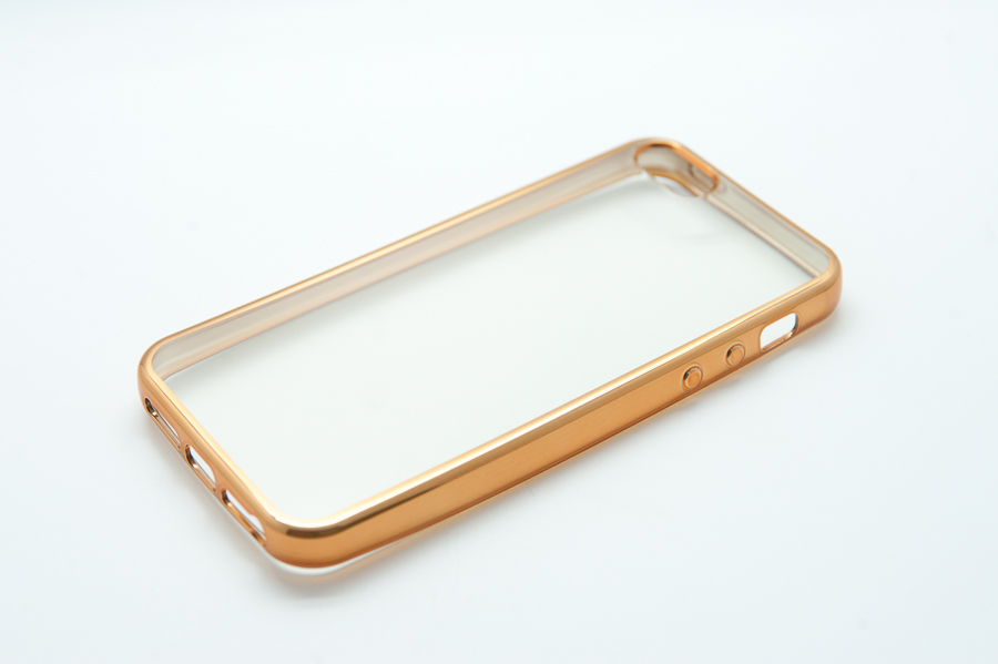 Ультратонкий чехол-бампер Apple iPhone 5/5S (Gold) AUZER